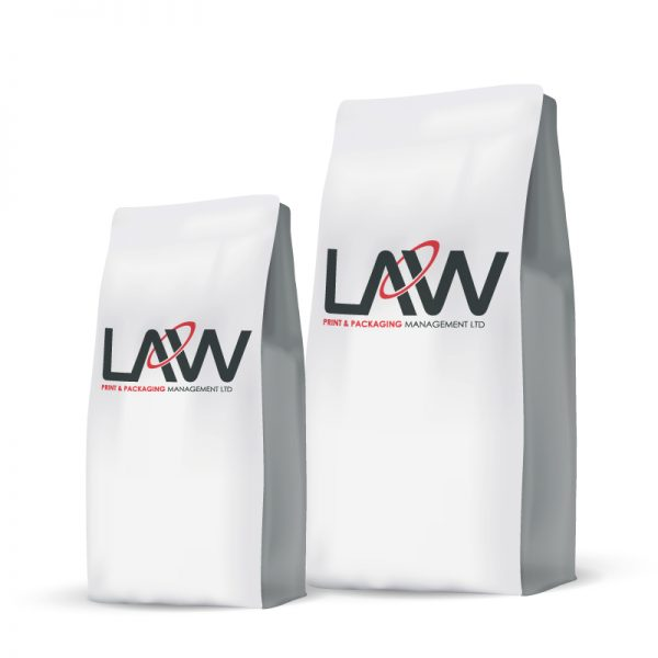 Flat Bottom Bag Law Print Pack