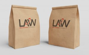Kraft Paper Bag Law Print Pack