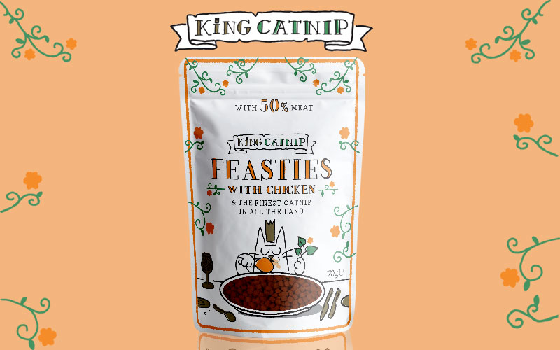 King Catnip Feasties Pouches Law Print