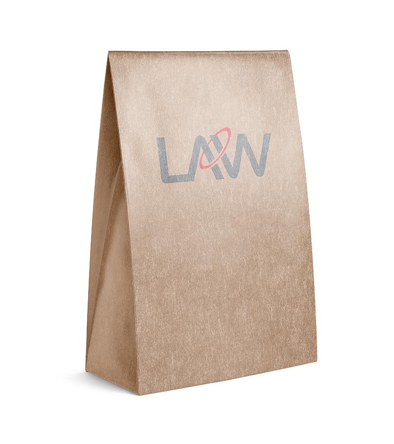 Kraft Paper Bag SOS Paper Bag Law Print