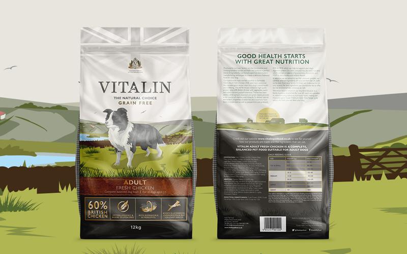 Vitalin Dog Food Case Study Law Print