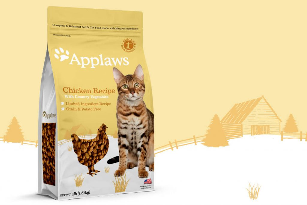 Applaws Cat Food Packaging with WIndow North America Law Print