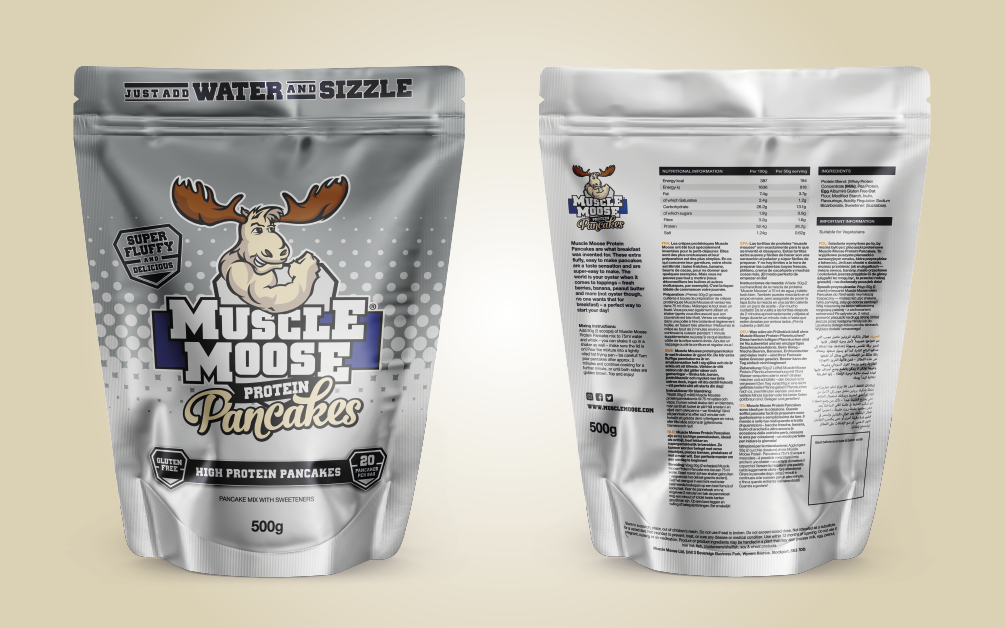 Muscle Moose Protein Pancakes Pouch 500g